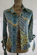 Just Cavalli printed silk blouse  top size 40 (l100