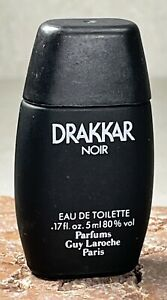 DRAKKAR NOIR Cologne Guy Larcoche VTG MINI 5ml EDT Original '80s & '90s Formula