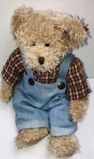 "Russ Bears From The Past Chad 4246 Teddy Bear 10"" Stuffed Plush Overalls W Tag"