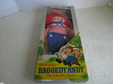 THE ORIGINAL RAGGEDY ANDY BY KNICKERBOCKER CLOTH DOLL - # 0003 - NEW IN BOX