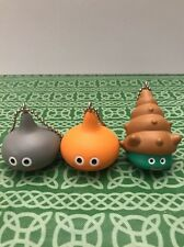 Lot Of 3 Extremely Rare Dragon Quest Square Enix Slime  Foam Material  Keychains