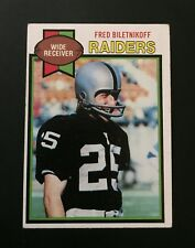 1979 Topps Fred Biletnikoff #305 Football Card HOF Oakland Raiders BEST OFFER