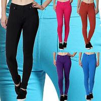 Women Skinny Sexy Pencil Jeggings Stretchy Soft Pants Moleton Jean Soft Leggings