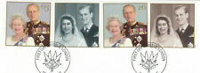 (54420) GB Used Queen Golden Wedding Anniversary 1997 ON PIECE