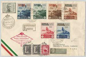 Posta aerea primo volo Roma- Mogadiscio 1934 Somalia