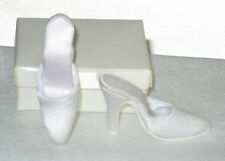 "Candi 16"" Doll Shoes / slipper / slide  WHITE Satin fit ELLOWYNE perfectly, NEW"