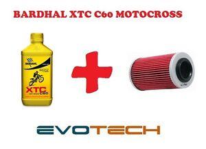 1 LT OLIO BARDHAL XTC C60 MOTO CROSS 10W40 + FILTRO OLIO KAWASAKI KLX 300 R