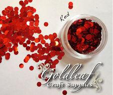 Nail Art Glitter Studs sequin discs dots 3mm - Gold