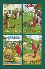 NOSTALGIA CLASSICS - 20 SETS OF P 4 - ADKIN & SONS ' GAMES  BY  TOM  BROWNE '