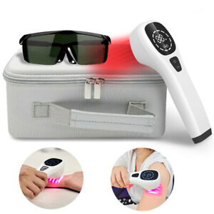 LLLT Cold Laser Therapy Device For Pain Relief 360mW Safety Goggles Pet Friendly