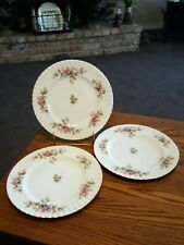 Moss Rose ( Montrose Shape ) by Royal Albert - 3 Dinner Plates *Excellent* (#2)
