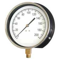 ZORO SELECT 18C768 Pressure Gauge,Mechanical Cont,4-1/2 In