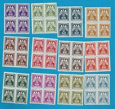 B&M  Dienstmarken  Nr. 13-24   kpl.  in Viererblocks   **  !!