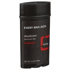 Every Man Jack Deodorant Aluminum Free, Cedarwood 3 oz