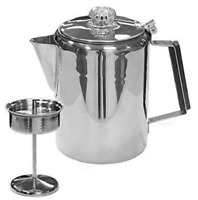 Coffee Percolator Camping Pot Stove Top Outdoor Maker Portable Vintage Steel NEW