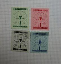 1936 Grand Rapids Mi Stamp Club Centennial Expo Souvenir Ad Set of 4