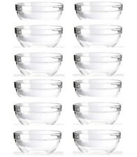 Luminarc Set Of 12 Stackable Glass Bowls 6cm Ideal for Dips Sauce