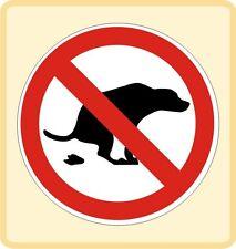 Hier nicht Hundekot Kacke Hundehaufen Sticker in 3 Grö�Ÿen Nr. 3504