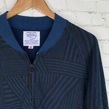 Men's Metaphore // 02Deriv (Size 2) Black/Blue Full Zip Sweatshirt Made In Japan
