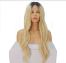 8A Unprocessed Brazillian Ombre 1b/613 Blonde Bodywave Lace Front Human Hair Wig