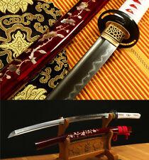 41' DAMASCUS FOLDED STEEL CLAY TEMPERED  JAPANESE SAMURAI SWORD KATANA