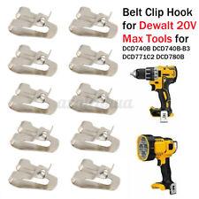 10x Drill Belt Clip Hook for Dewalt 20V Max Tools DCD740B DCD740B-B3 DCD771C2