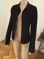 SILVIE SCHIMMEL, Paris - Suede Dark Brown Jacket NEW Size 42 ( Aus Size 12)