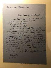 D.-E. Inghelbrecht compositeur chef orchestre lettre autographe Albert Carré