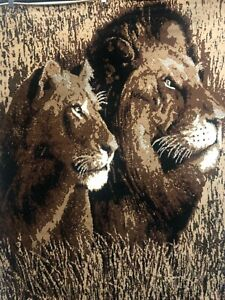Lion and Lioness Area Rug For The Home 5X8 Roomsize