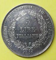 5 LIRE ITALIANE 1848 Governo Provvisorio Lombardia.