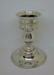 "Vintage International Silver Wide Candle Holder Candlestick 4.5"" Tall"