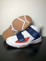 Nike LeBron Soldier 13 Youth LA Basketball Shoes White Gold CU4133-124 Size 6Y