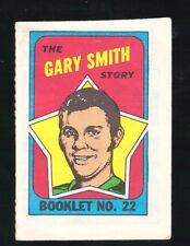 1971 Topps Hockey Set GARY SMITH BOOKLET INSERT #22