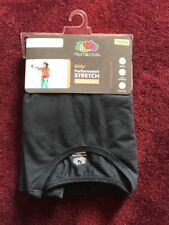 NWT Fruit Of The Loom Girls Performance Stretch Baselayer Set Black Large 10-12