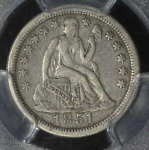 1851-o Seated Liberty Dime. PCGS VF25 and VERY nice!