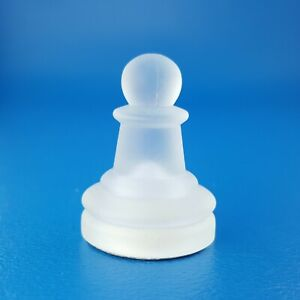 Excalibur Chess Frosted Glass Pawn Black Felt Staunton Replacement Game Piece