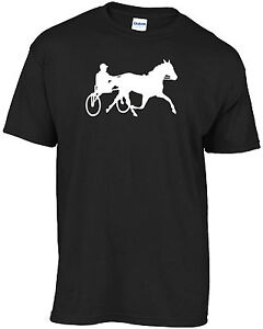 Harness racing silhouette t-shirt