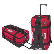 BoGi Bag Reisetaschen Trolley 2er Set Koffer Rollen - 85 L + 110 L Rot / Schwarz