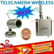 TELECAMERA A COLORI WIRELESS AUDIO VIDEO 200 METRI