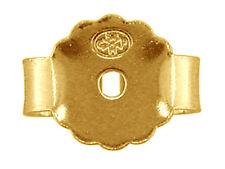 Desplazamiento de la mariposa de oro amarillo 18ct de espaldas-peso pesado para 1.0mm Pines hallazgos