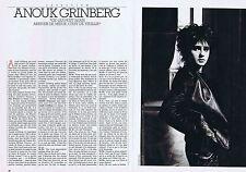 COUPURE DE PRESSE CLIPPING 1991 ANOUK GRINBERG  (6 pages)