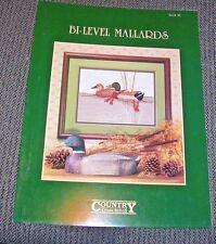 Country Cross Stitch BI-LEVEL MALLARDS Pattern Booklet Larry K. Martin