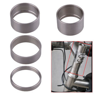 4set Titanium Alloy 5/10/15/20mm Spacer Bicycle Bike Headset Spacer Front Stem.