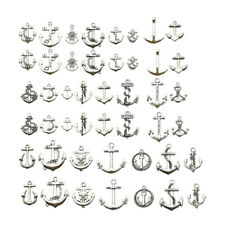 46pcs Anchor Charms Pendant Supplies for DIY Crafting Necklace Bracelet Making
