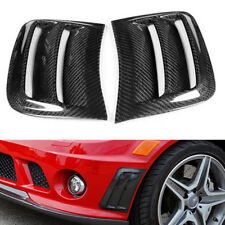 Bumper Carbon Fiber Air Vent Duct Cover Fit For 08-11 Mercedes Benz W204 C63 AMG
