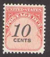 US. J97. 10c, Postage  Due Stamp. Dull Gum. Mint. NH. 1959