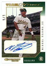 2003 Donruss Team Heroes Hawaii Trade Convention Miguel Tejada 1/1 Autograph