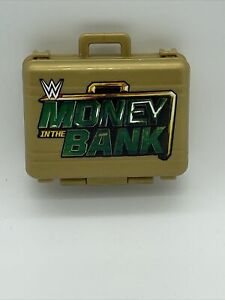 WWE Money in the Bank Action Figure Mattel Briefcase Gold Used