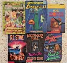 VINTAGE 90's HORROR 6 PAPERBACK CHILDRENS YA CHAPTER BOOK LOT R.L. STINE PIKE +