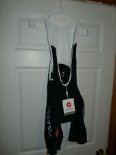 Castelli Men's Cycling Evoluzione 2 Bib Shorts Black Large NEW